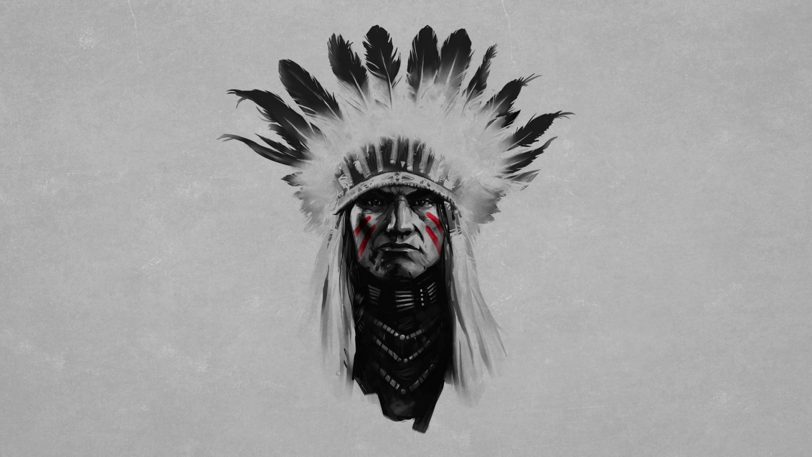 Indian chief artwork