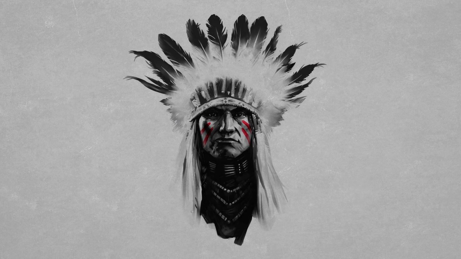 Indian chief artwork