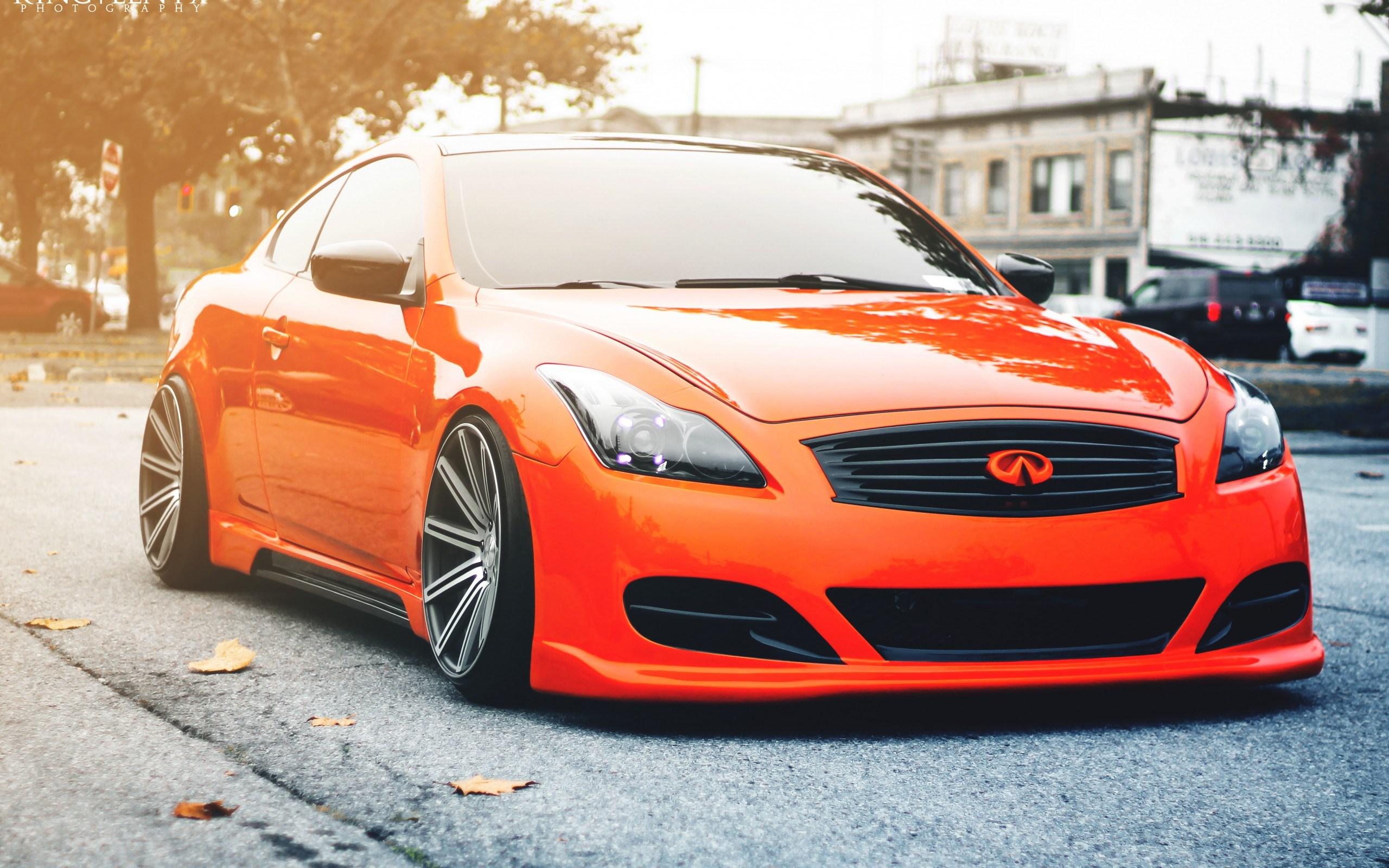 Infiniti G35 Orange Tuning Car