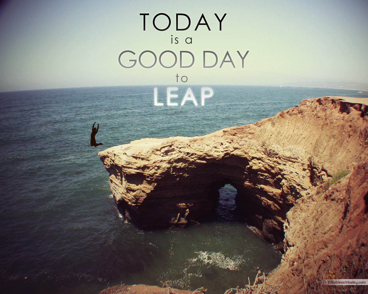 Today is a Good Day To Leap inspirational wallpaper