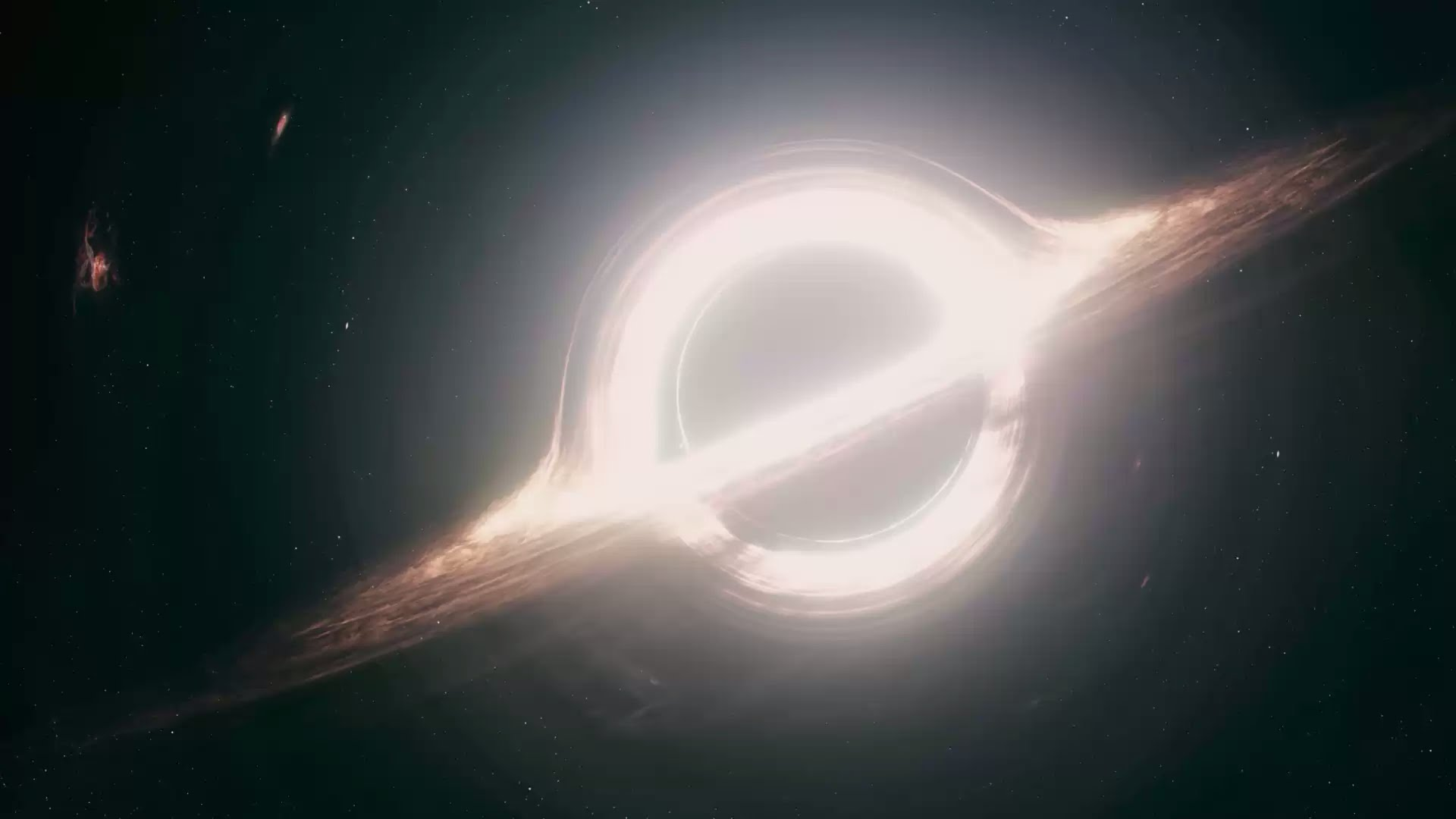 The Gargantua black hole from Interstellar. Credit: Double Negative