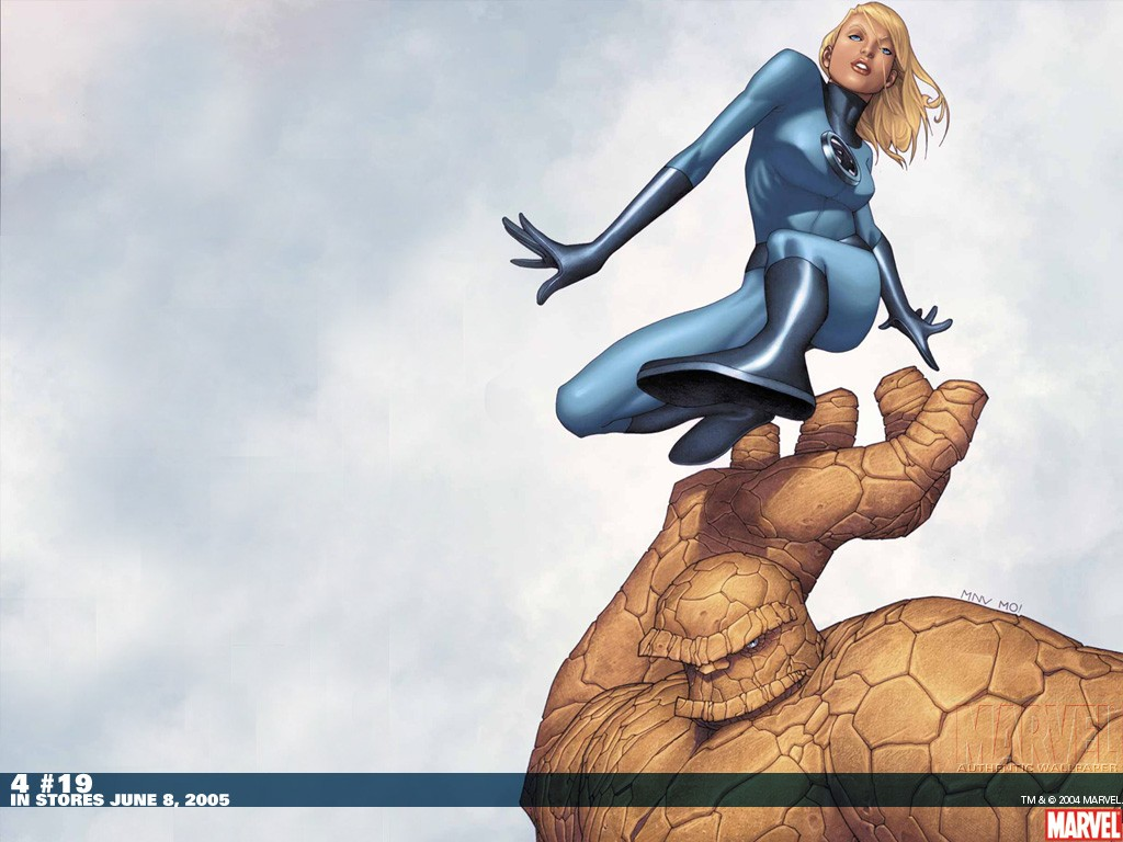 Fantastic Four Invisible Woman Marvel Comics Thin 1024x768