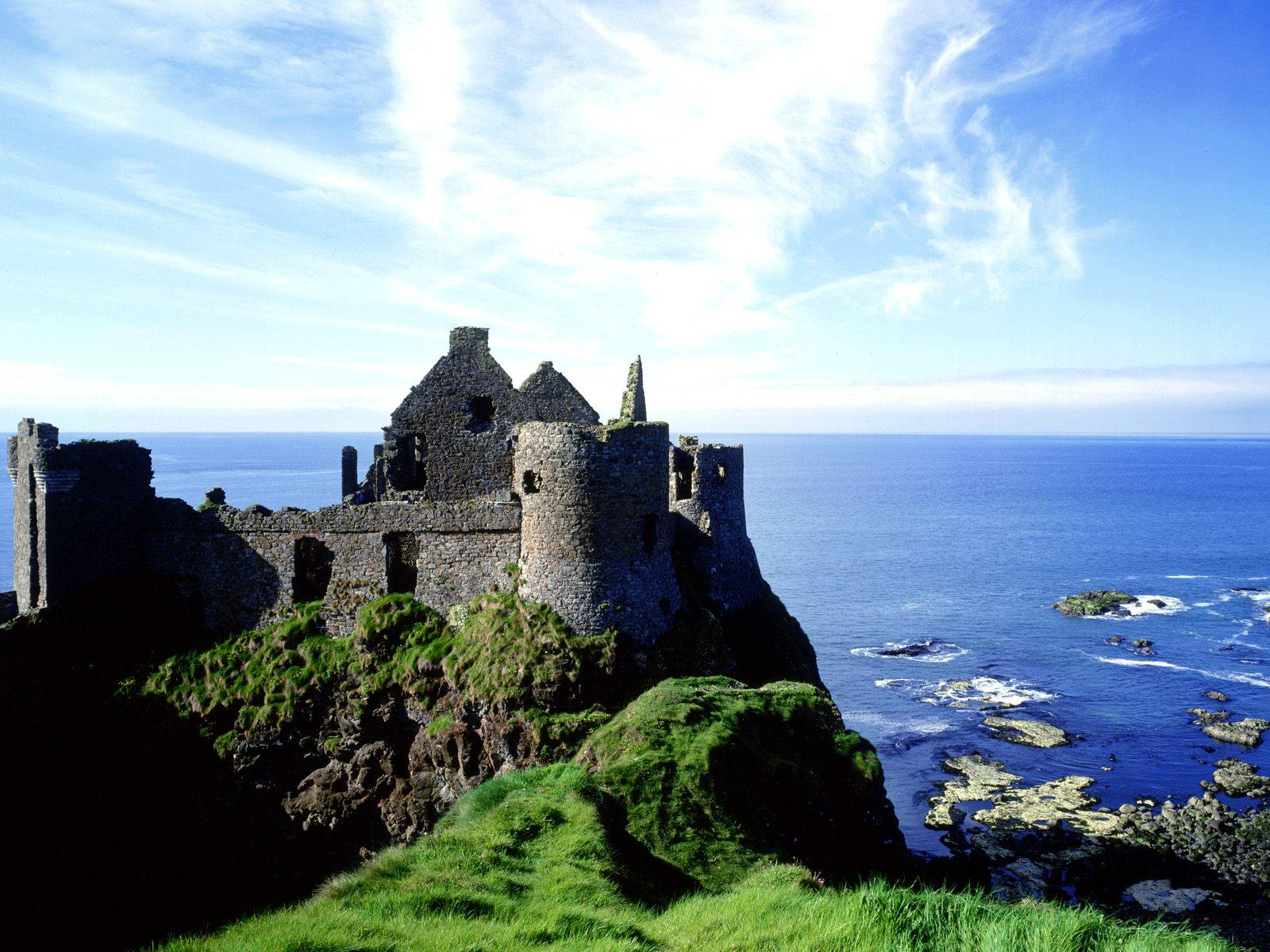 Dunluce castle Antrim Ireland free wallpaper in free desktop backgrounds category: Castle-wallpapers.