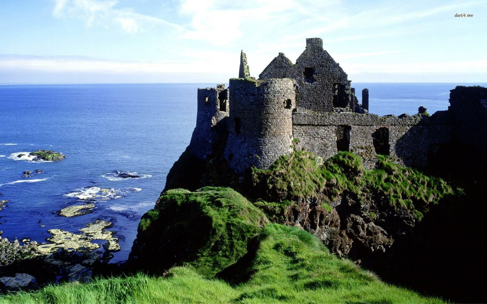 ... Dunluce Castle, Ireland wallpaper 1680x1050 ...