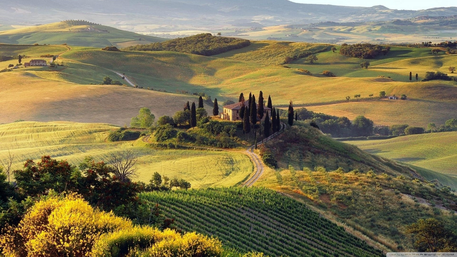 Italian Landscape Wallpaper