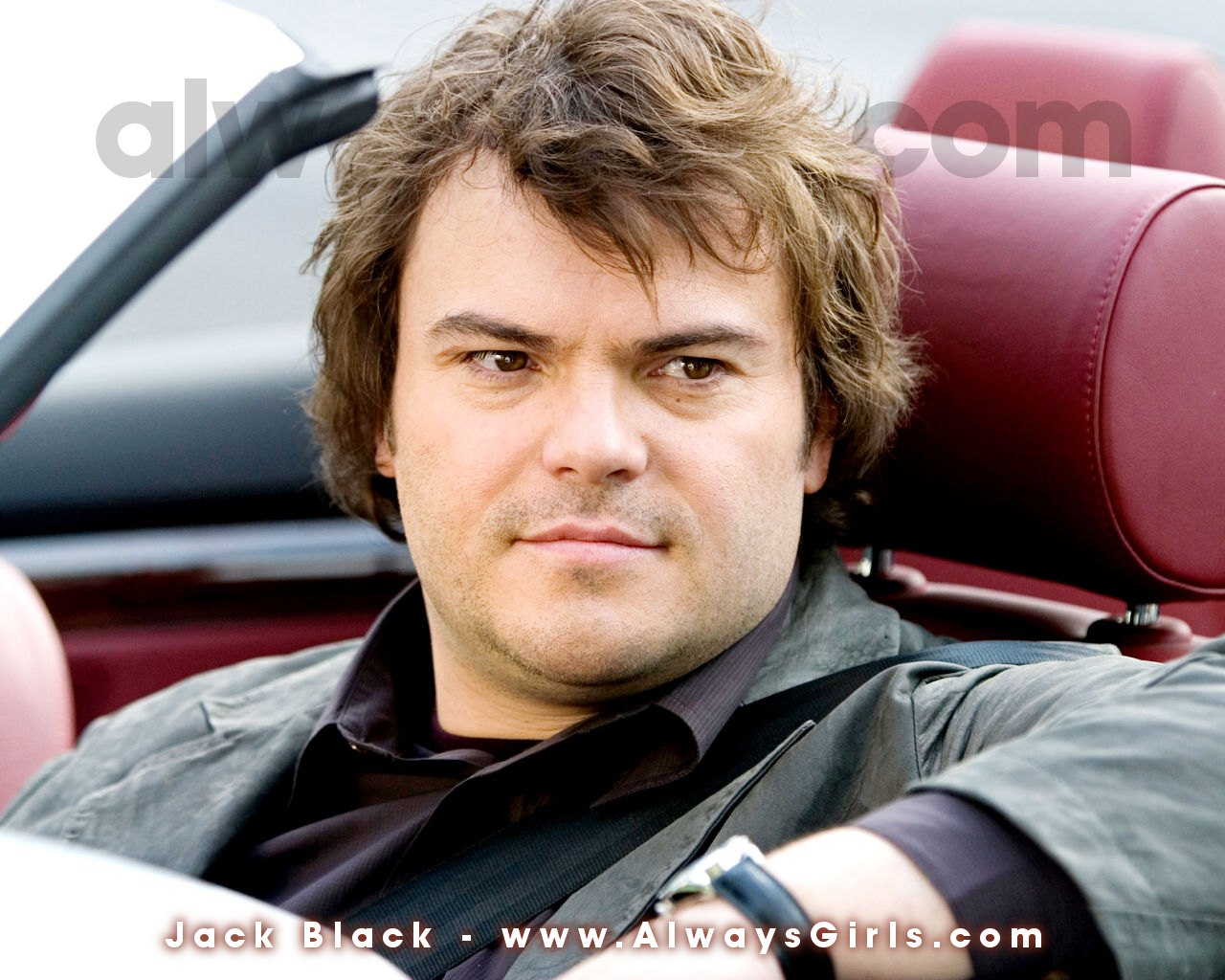 "Jack Black Wallpaper - Right click your mouse and choose ""Set As Background"" to"