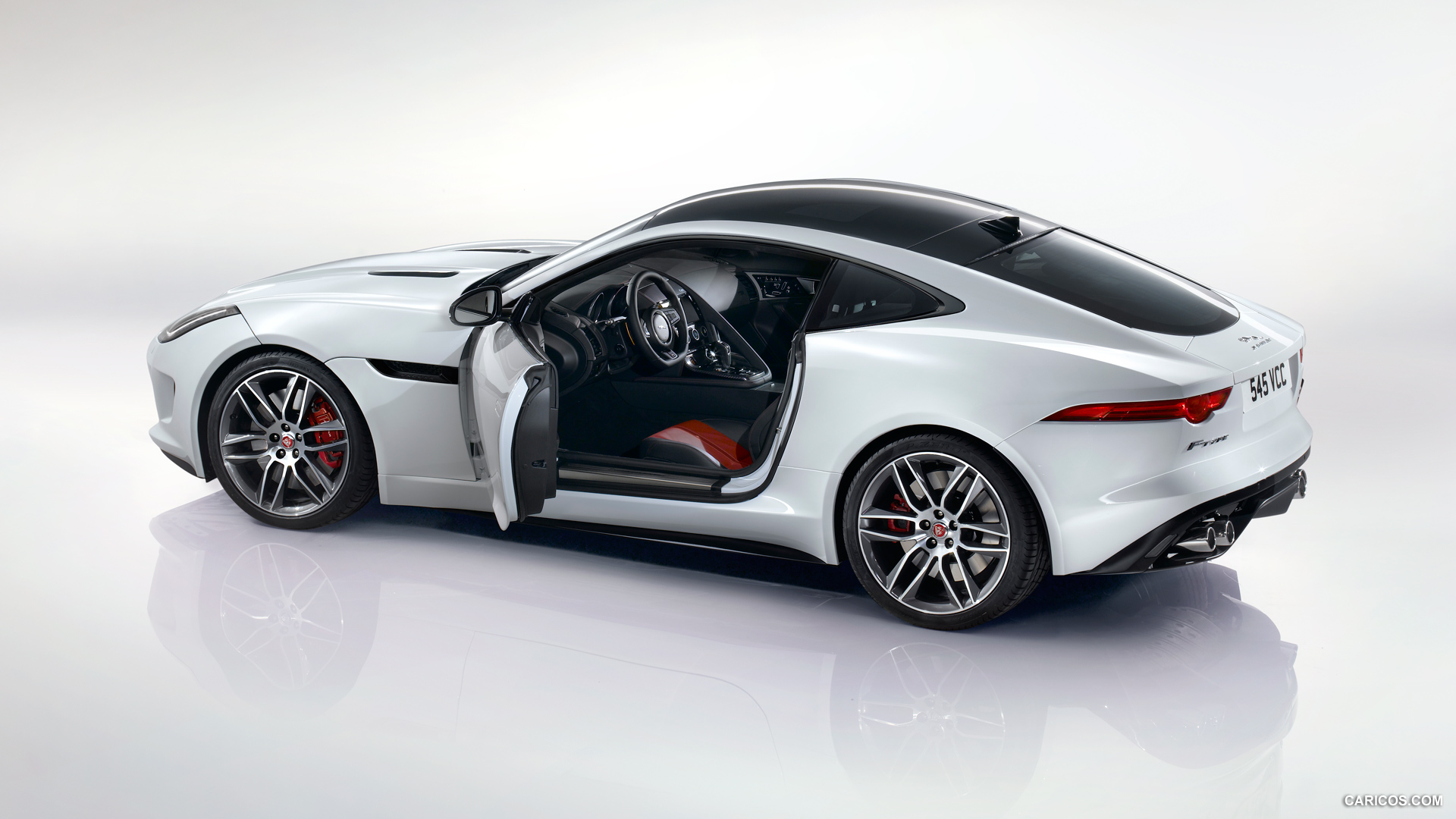 2015 Jaguar F-Type R Coupe Polaris White - Side Wallpaper