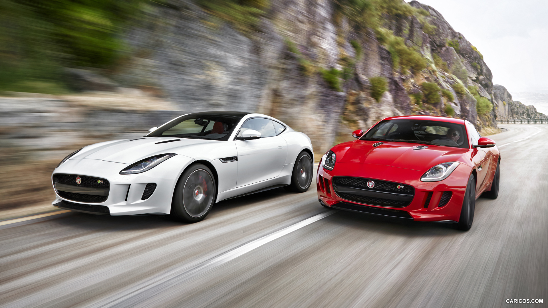 2015 Jaguar F-Type Coupe and F-Type R Coupe - Front Wallpaper