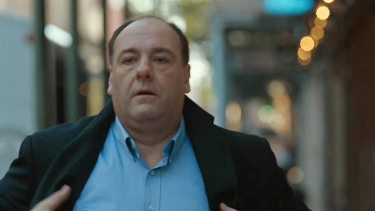 """Photo of James Gandolfini, portraying Doug Riley in """"Welcome to the Rileys""""(2010). Source: The Official Trailer"""