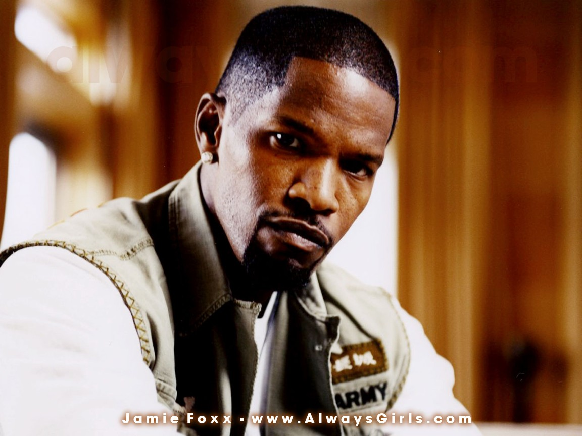 "Jamie Foxx Wallpaper - Right click your mouse and choose ""Set As Background"" to"