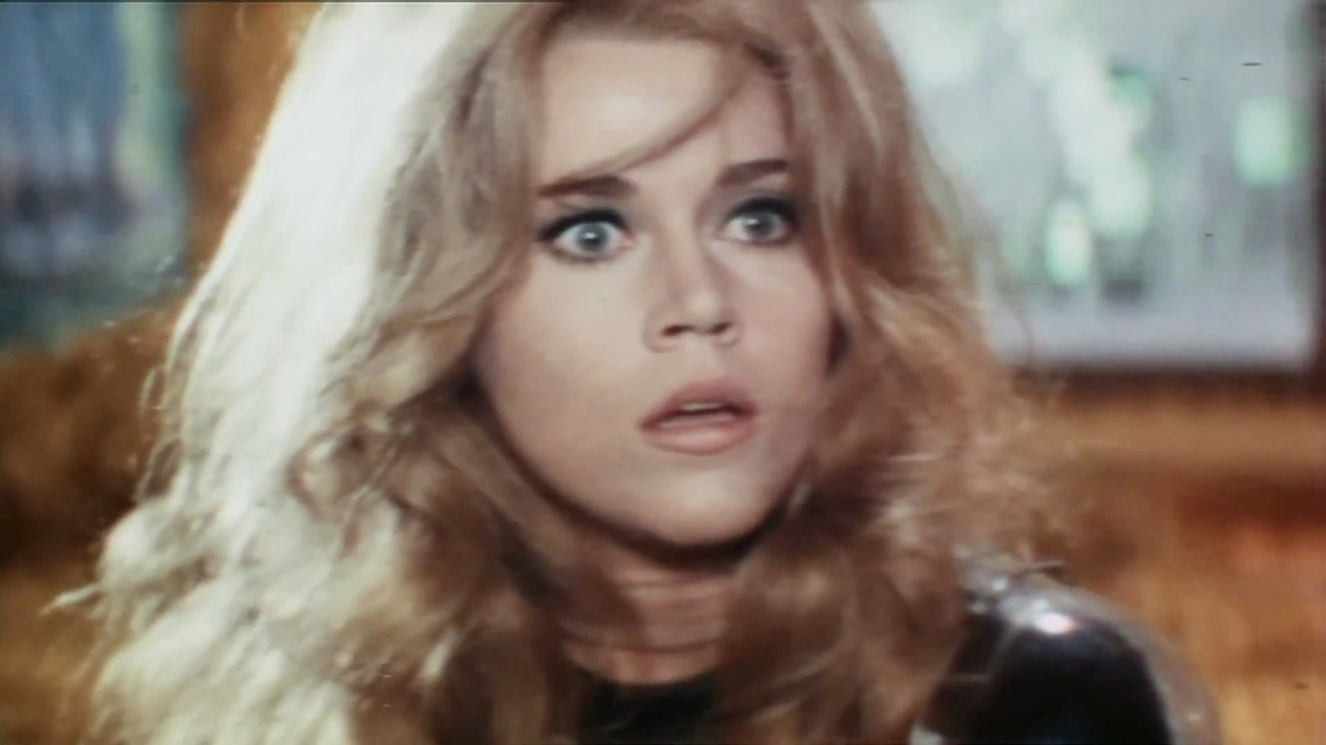 "Photo of Barbarella, as portrayed by Jane Fonda from ""Barbarella""(1968). Source: The Official Trailer"
