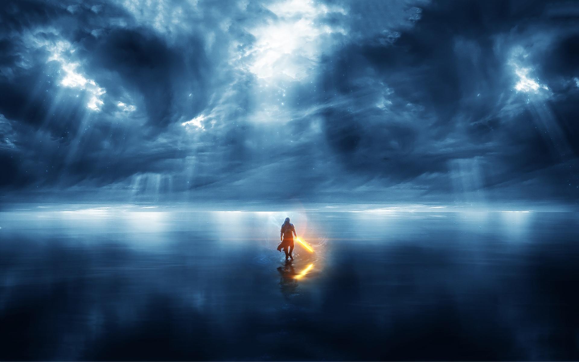Jedi clouds water