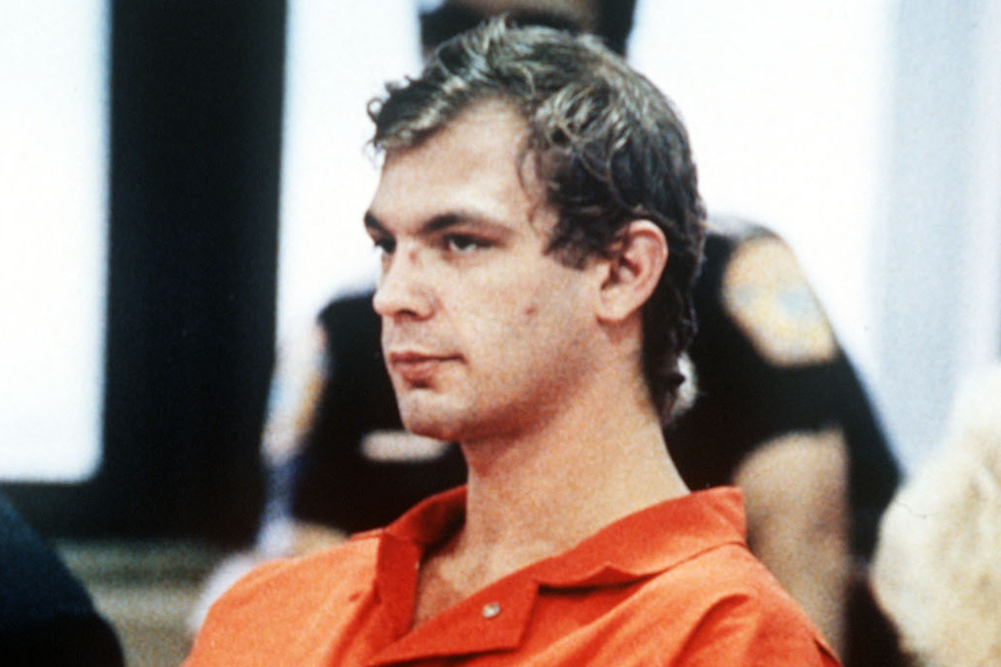 Jeffery Dahmer at a preliminary hearing in 1991. Photo: AP