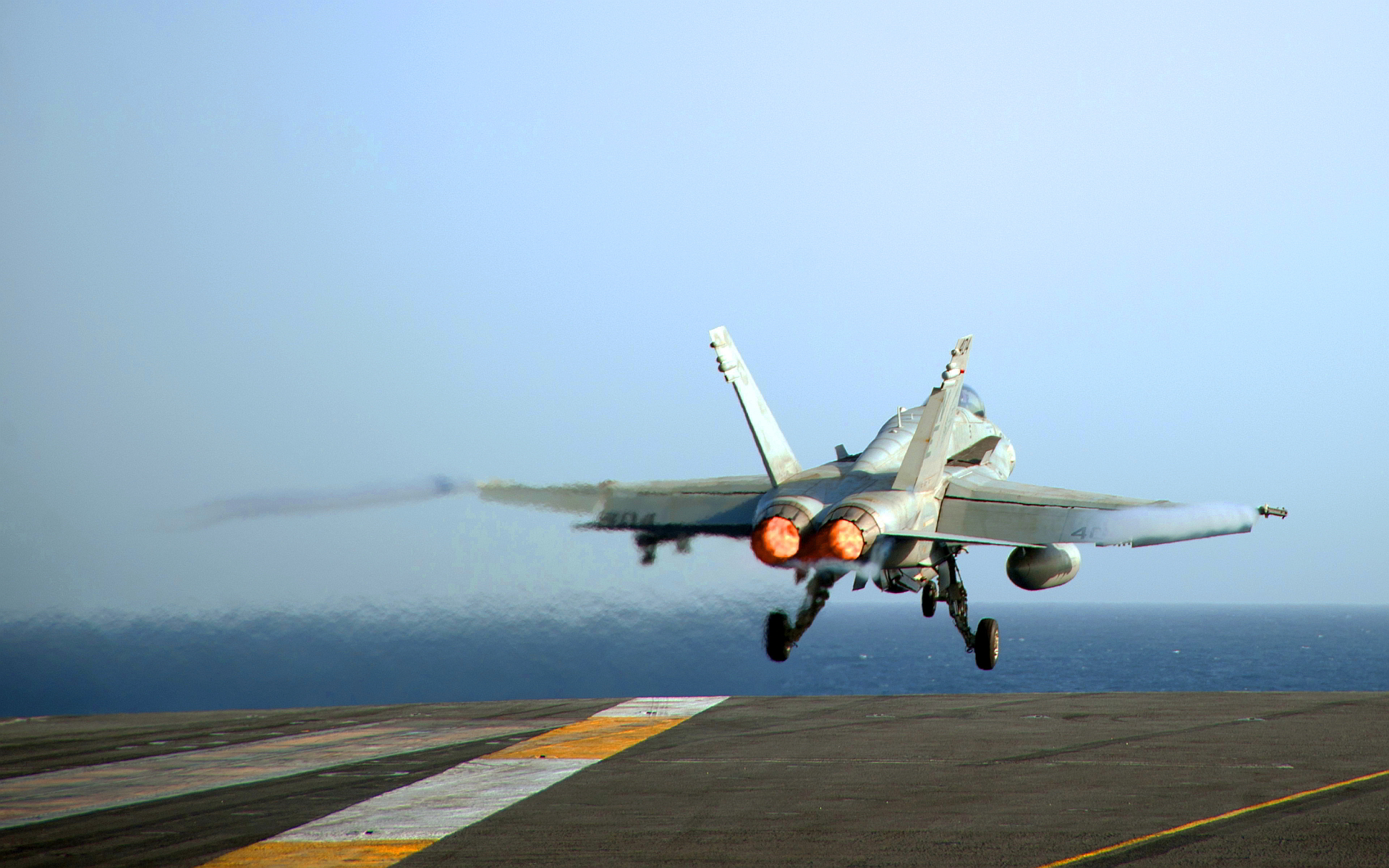 Jet aircraft carrier takeoff