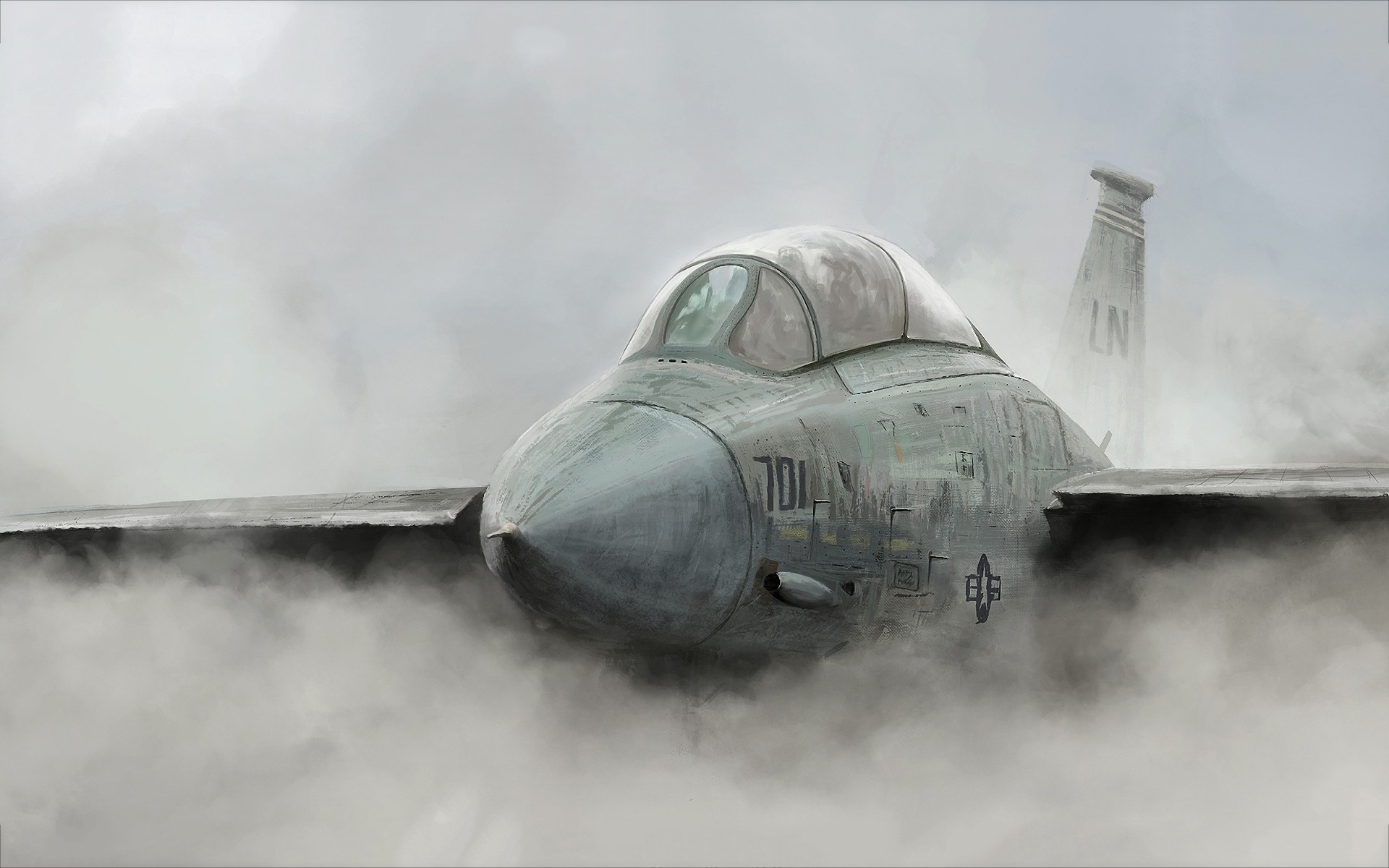 Jet fighter painting