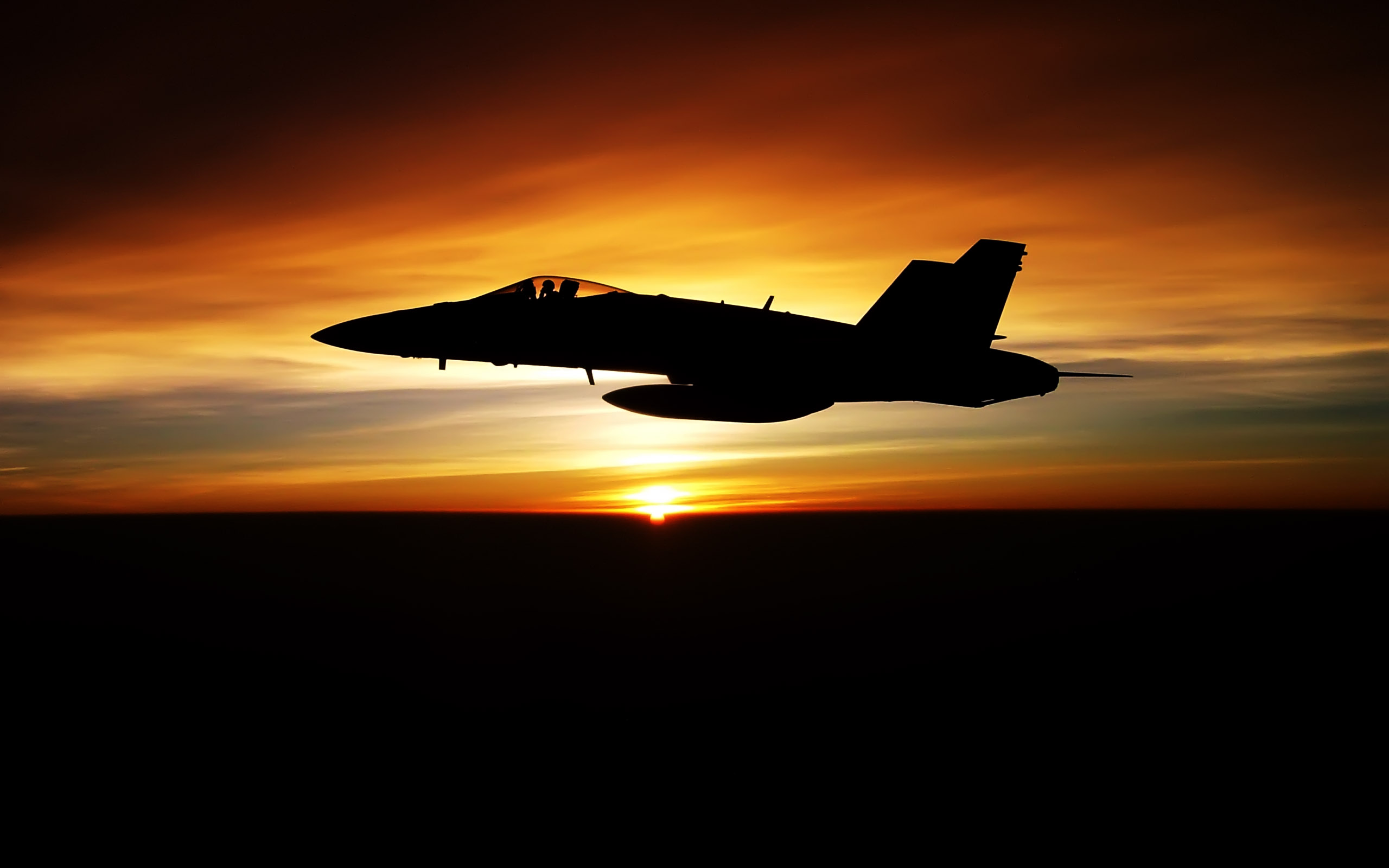 Fighter Jet Sunset