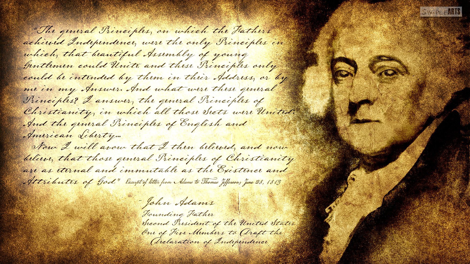 ... Separation Of Church And State: John Adams by SympleArts