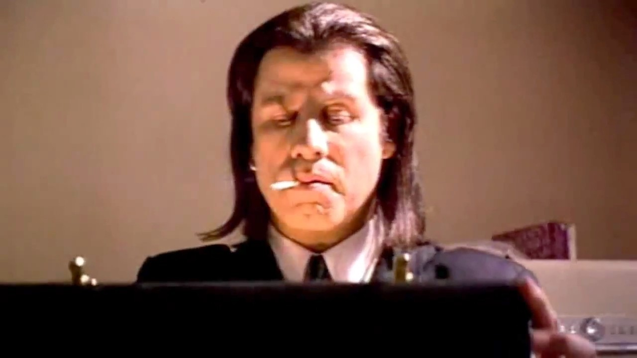 Quotes from Vincent Vega (John Travolta) in Pulp Fiction (1994), a film by Quentin Tarantino.