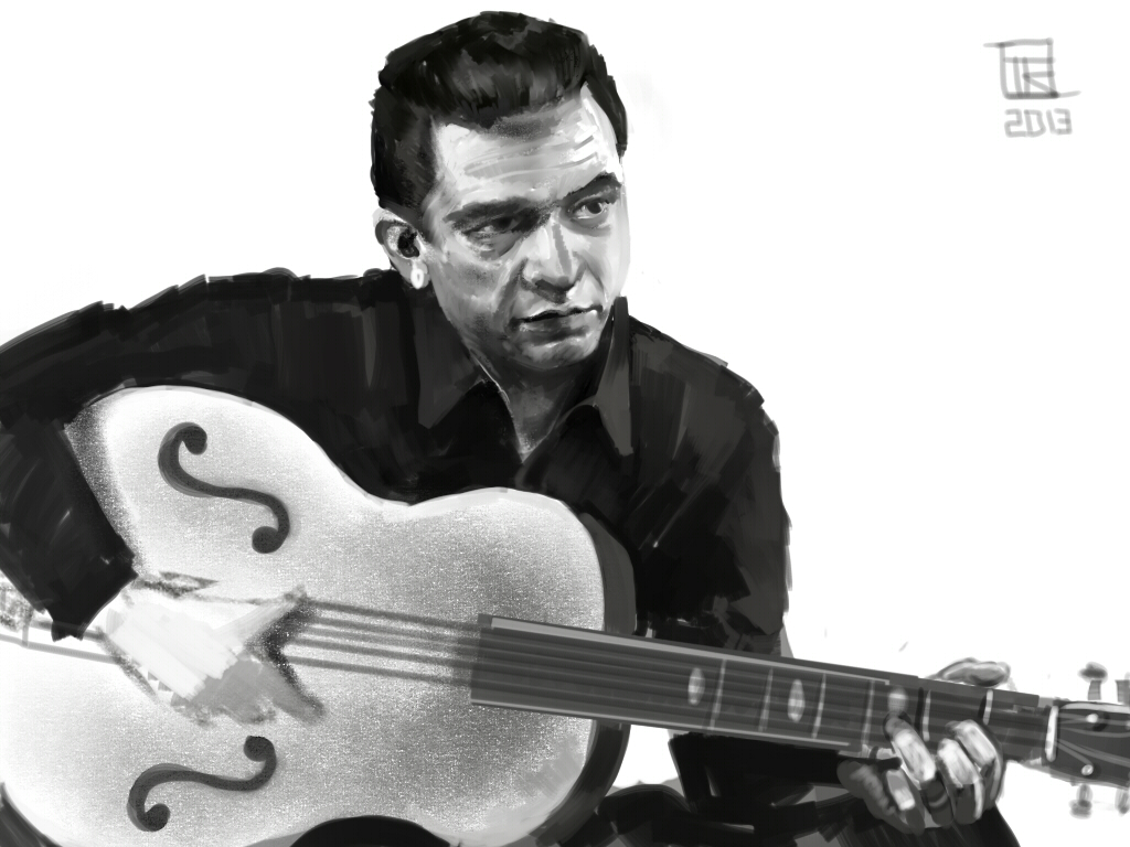 Johnny Cash by yoggurt