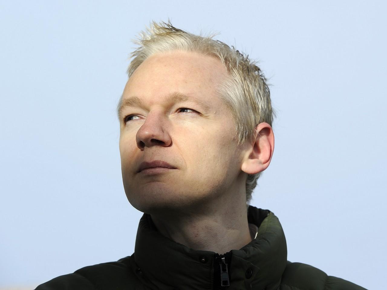 EnlargeWikiLeaks founder Julian Assange speaks to the media outside Ellingham Hall, the home of his friend, journalist Vaughan Smith, in Norfolk, ...