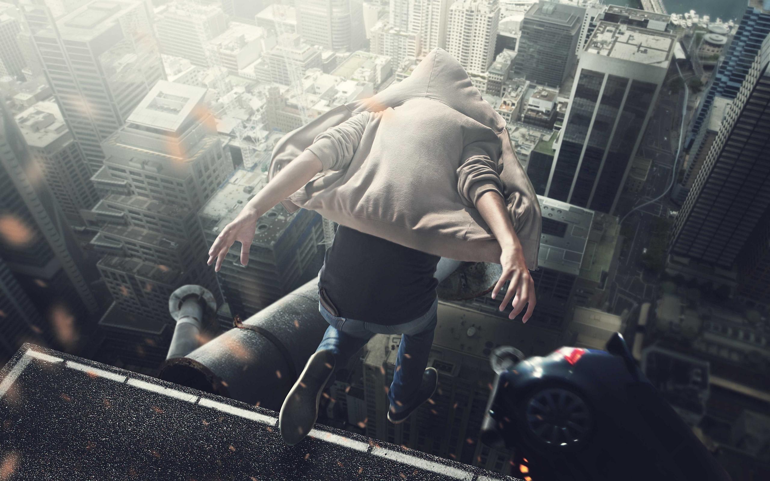 Jump roof skyscraper