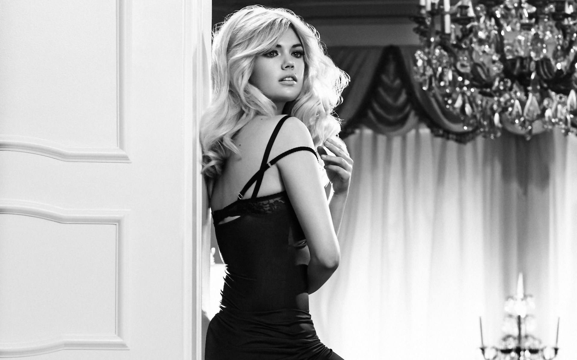 Kate upton black white