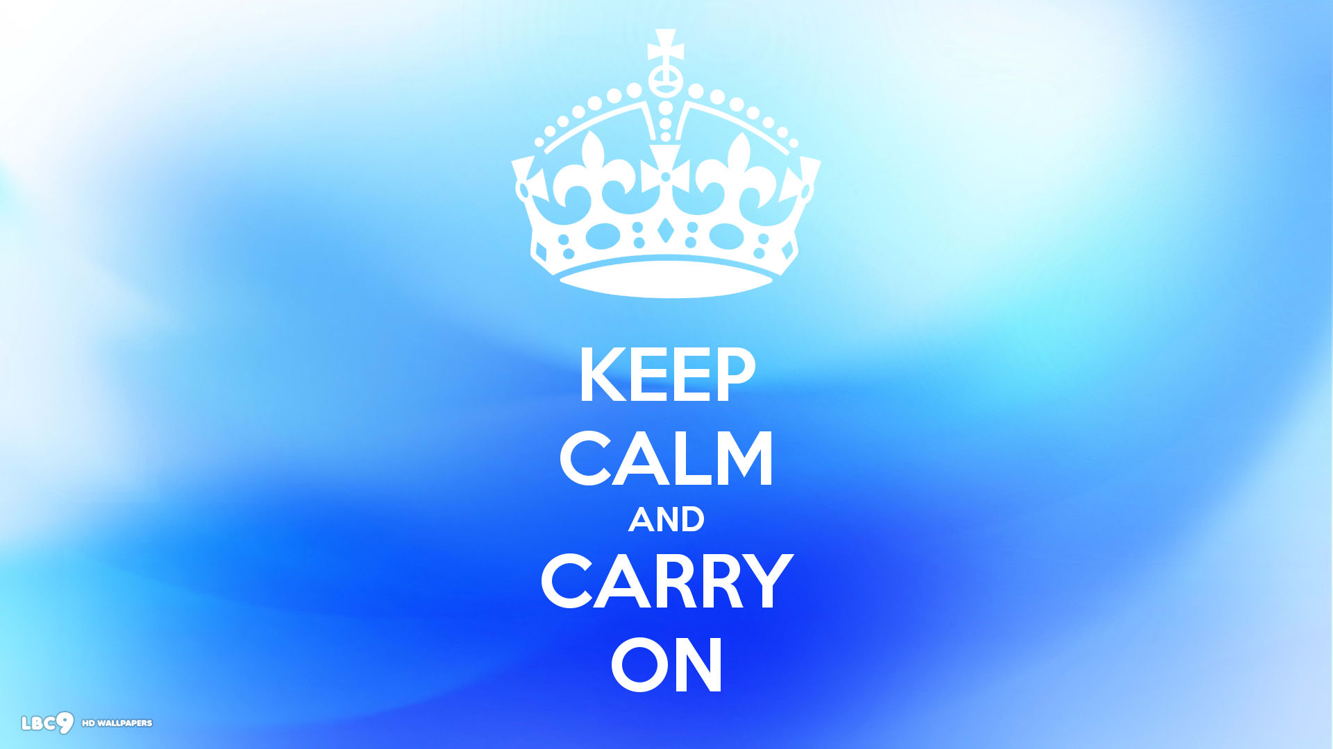 keep calm and carry on 1920 blue abstract background