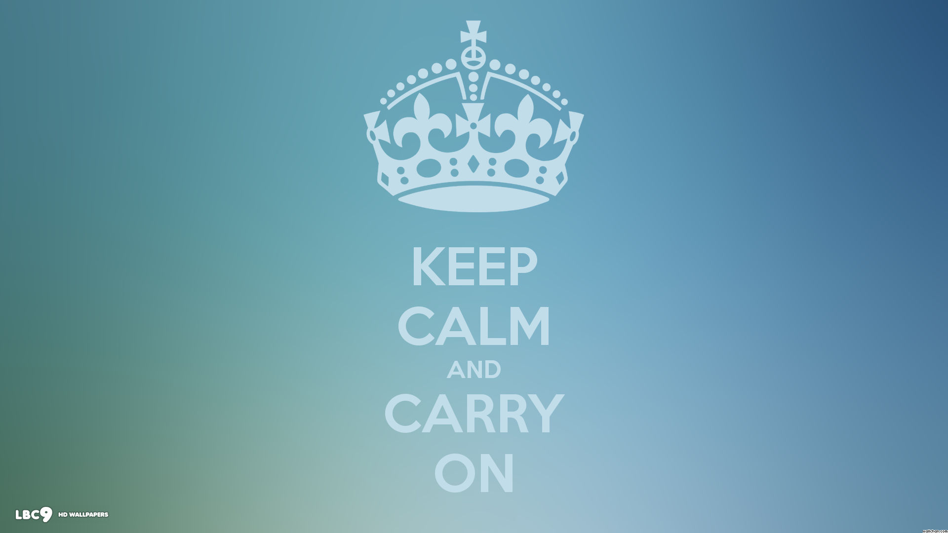 keep calm and carry on basic simple blue