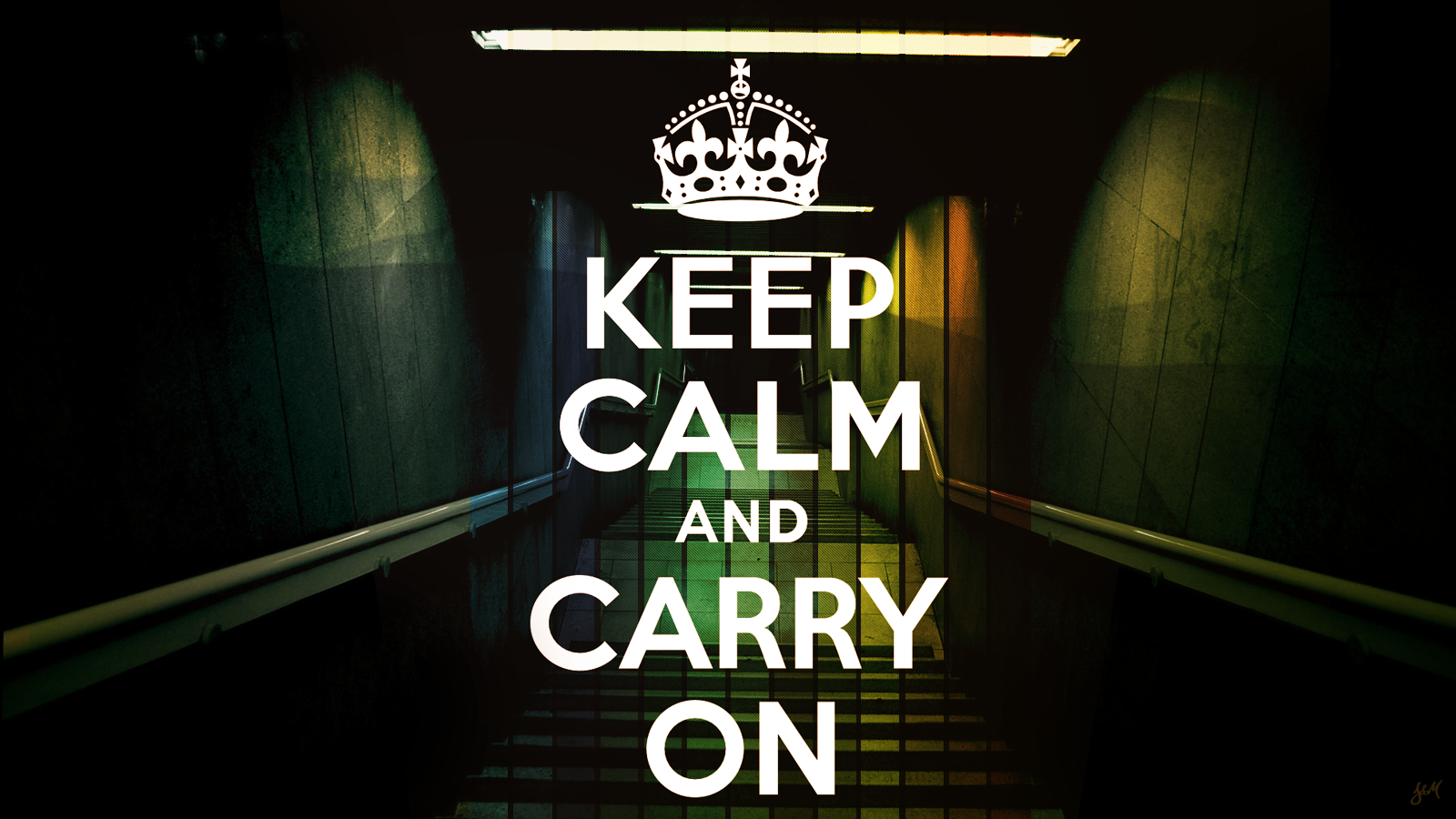 ... Keep Calm and Carry On by J9qw