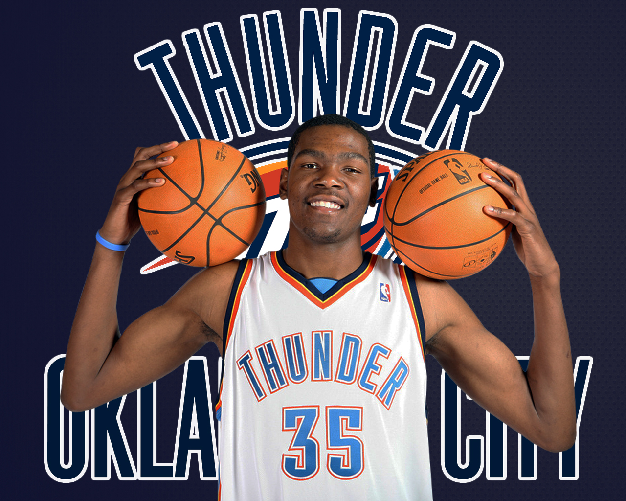 Best HD Wallpaper Kevin Durant OKC Jersey 2013 For Desktop
