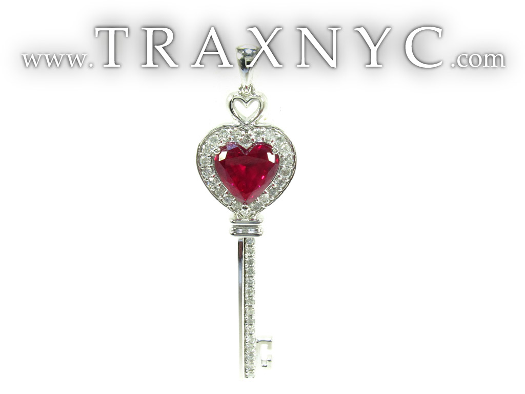 Key Heart Pendant