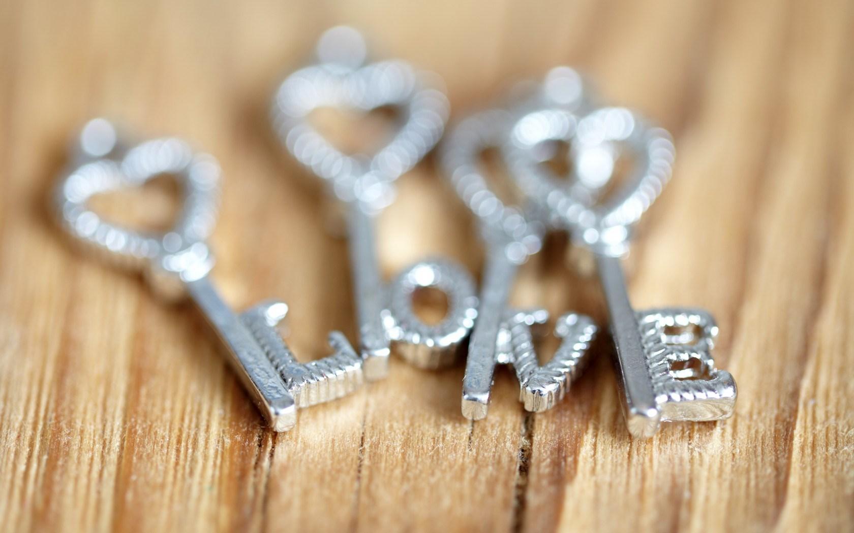 Keys Hearts Letters Love Mood