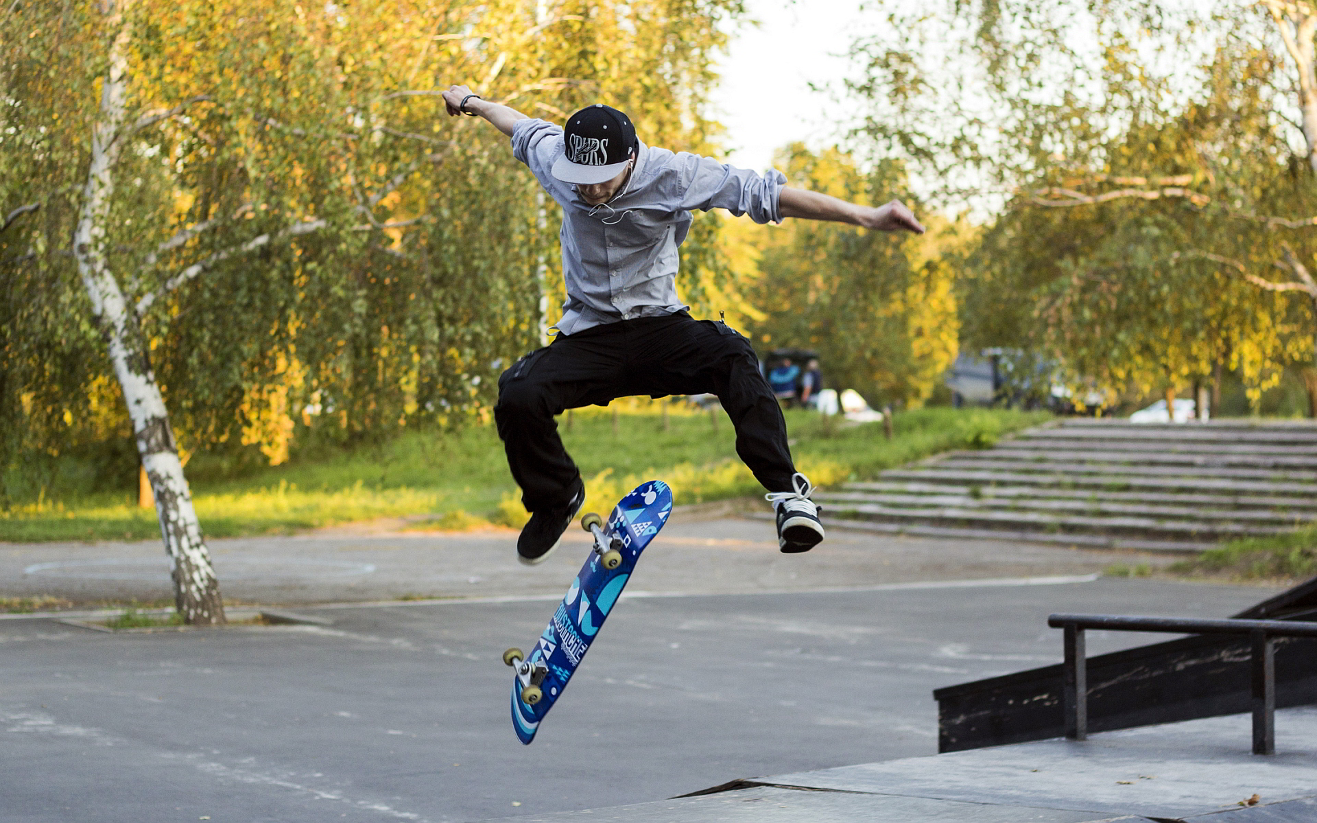 Kickflip skateboard