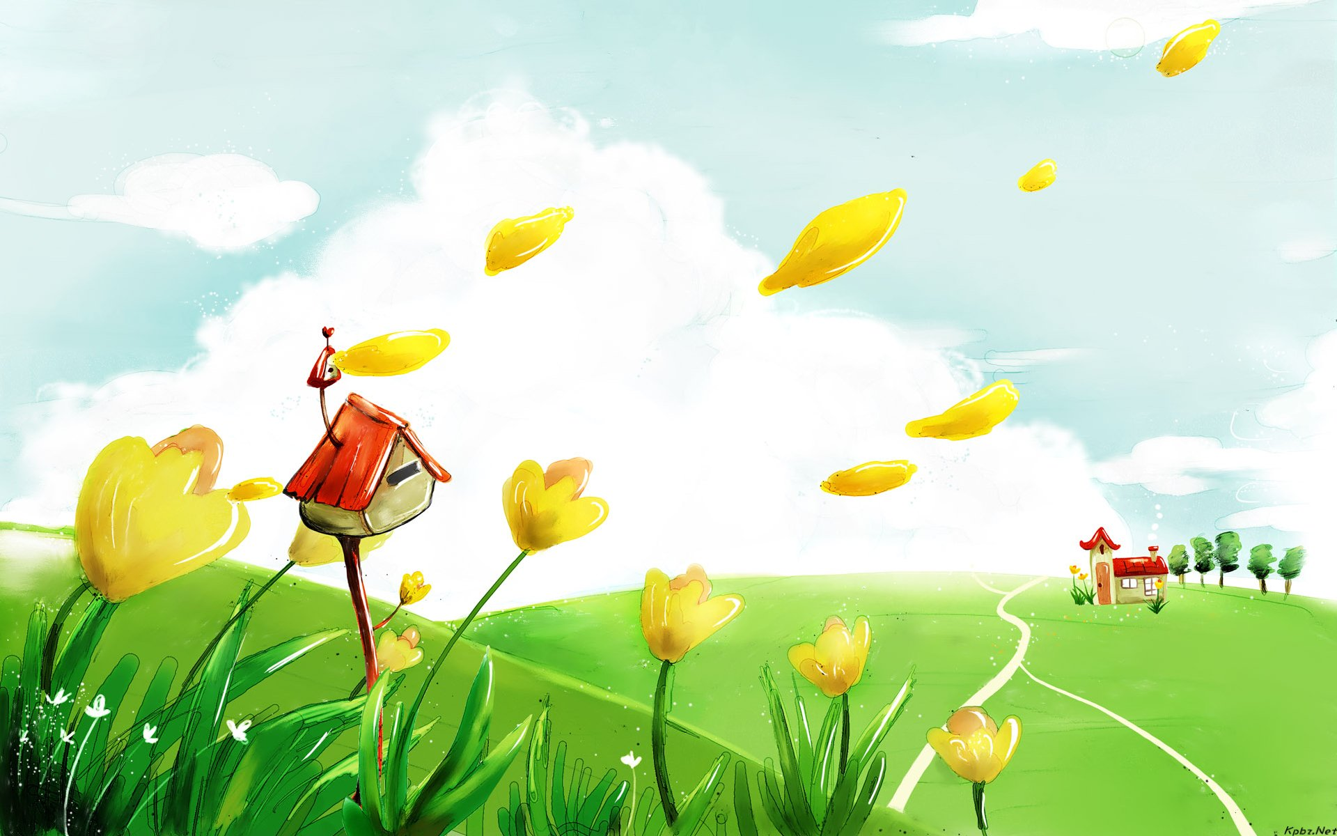 High Resolution Colorful Cartoon Kids Background Wallpaper HD 6 - SiWallpaperHD 2870