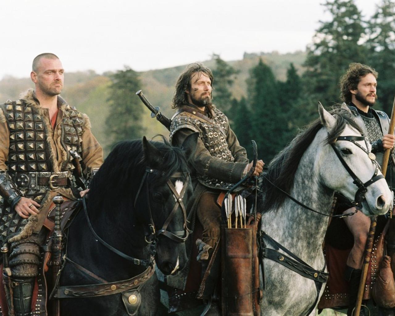 King Arthur - Dagonet, Tristan, and Galahad