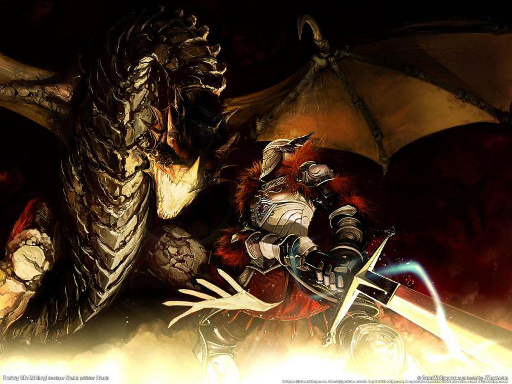 Knight vs dragon