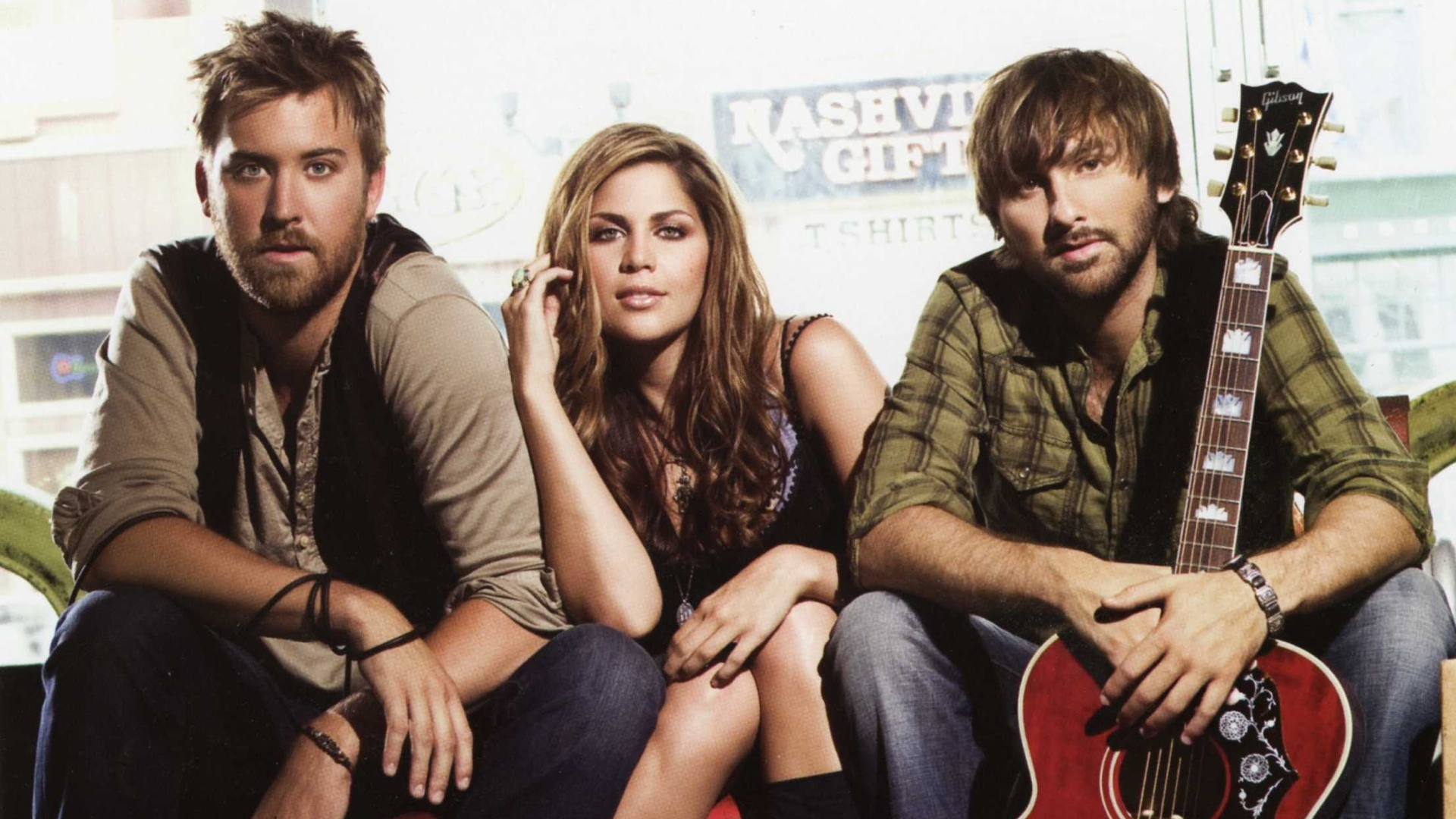 Lady Antebellum Red Guitar HD Wallpaper