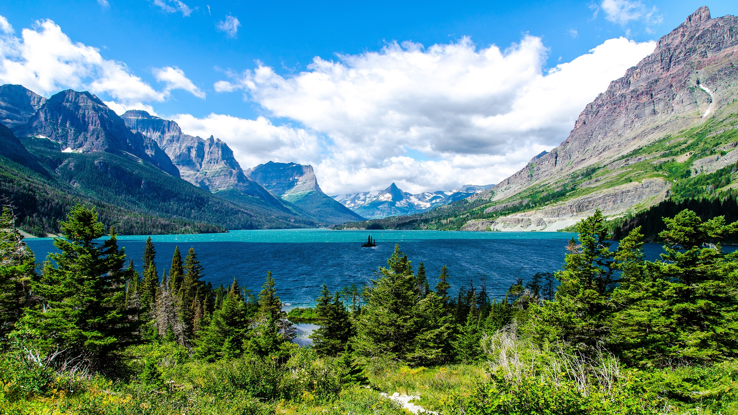 Glacier National Park. National Park in United States, North America