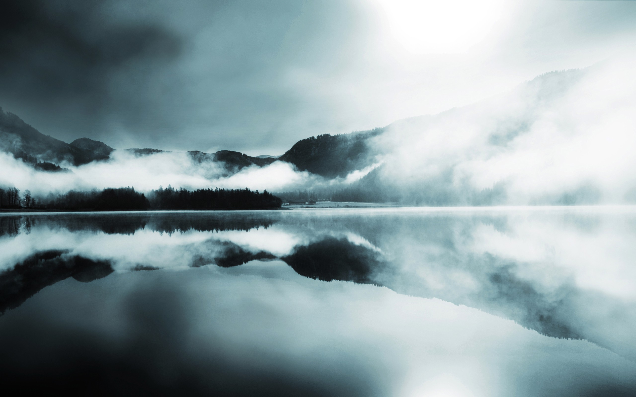 Lake Mist Background