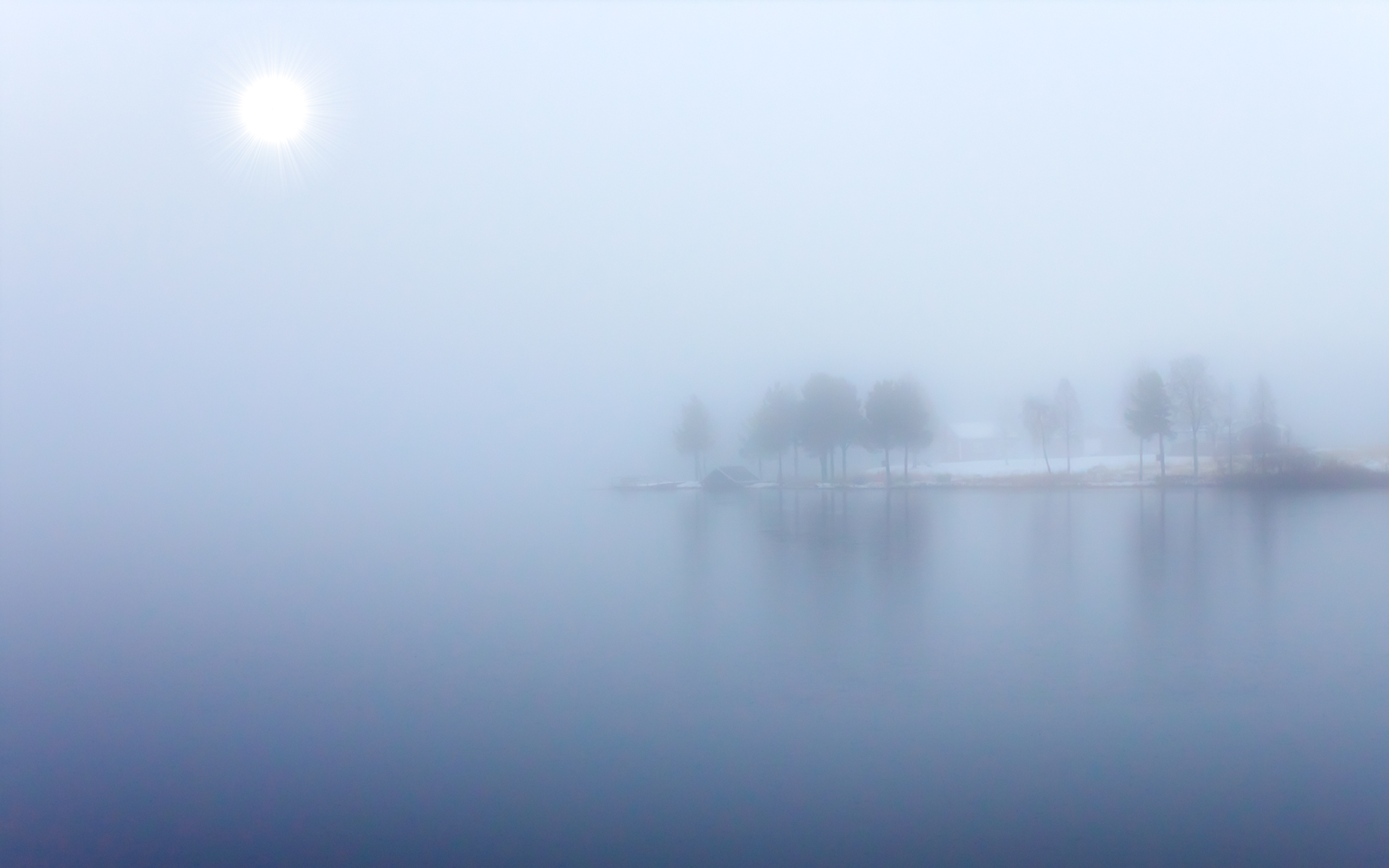 Cool Lake Mist Wallpaper 33768 1920x1200 px