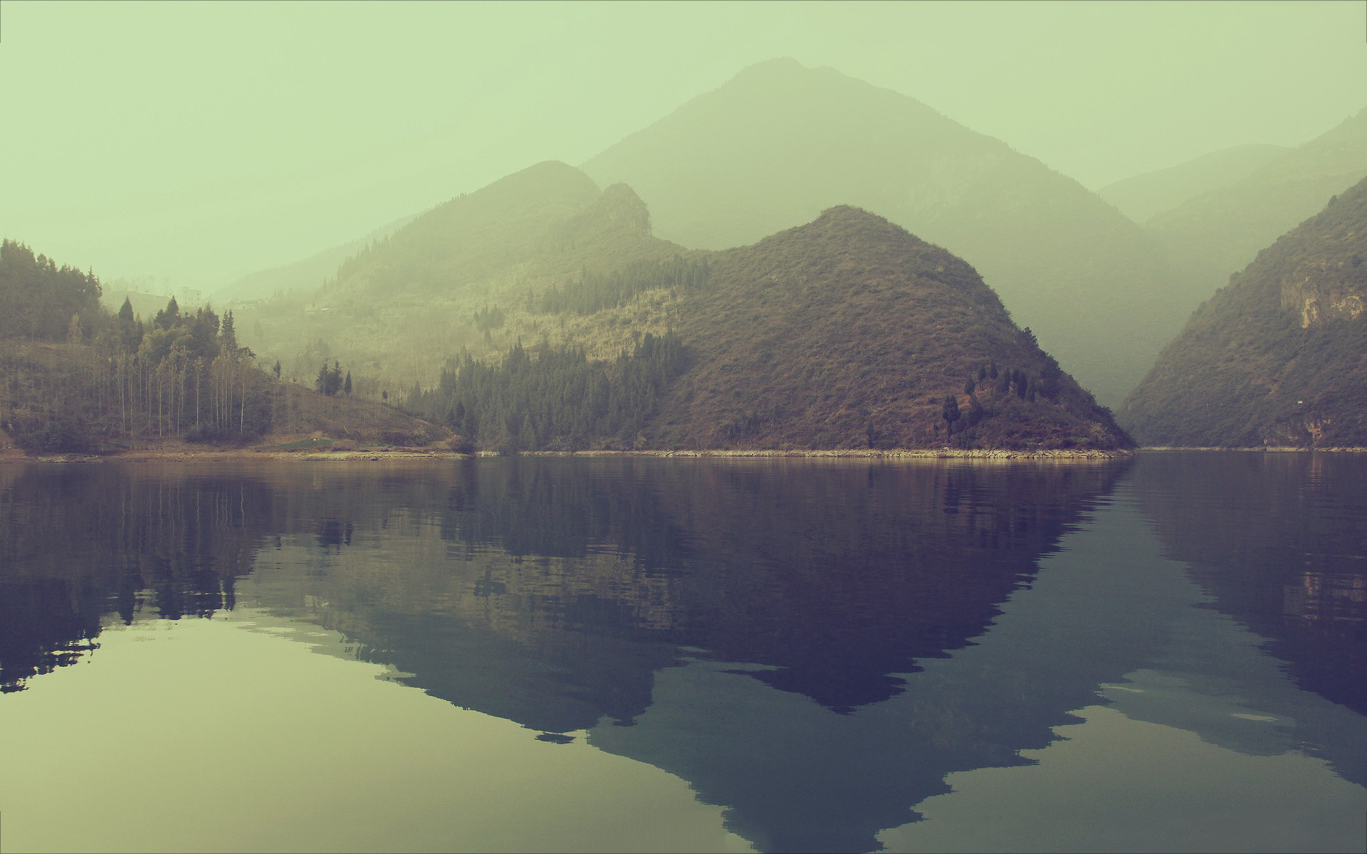 Lake silent morning