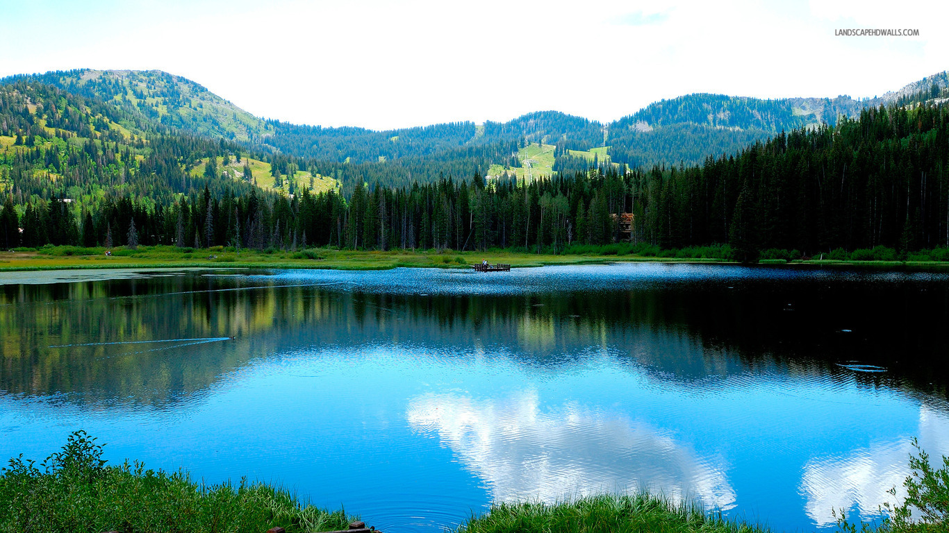 ... Mountain Lake wallpaper 1280x800