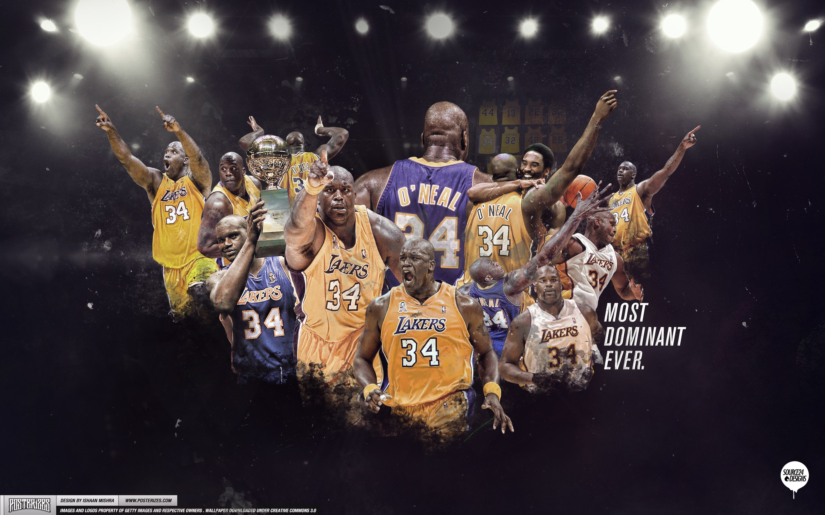 Shaq Los Angeles Lakers Wallpaper