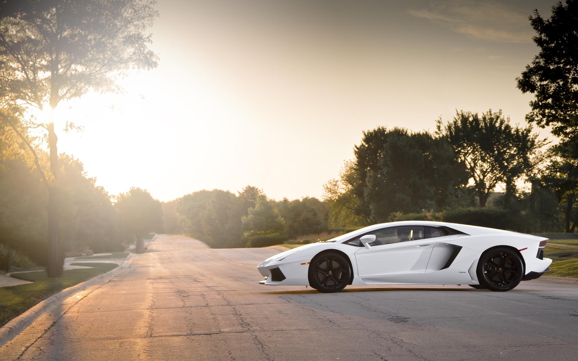 Lambo lp700 sunset