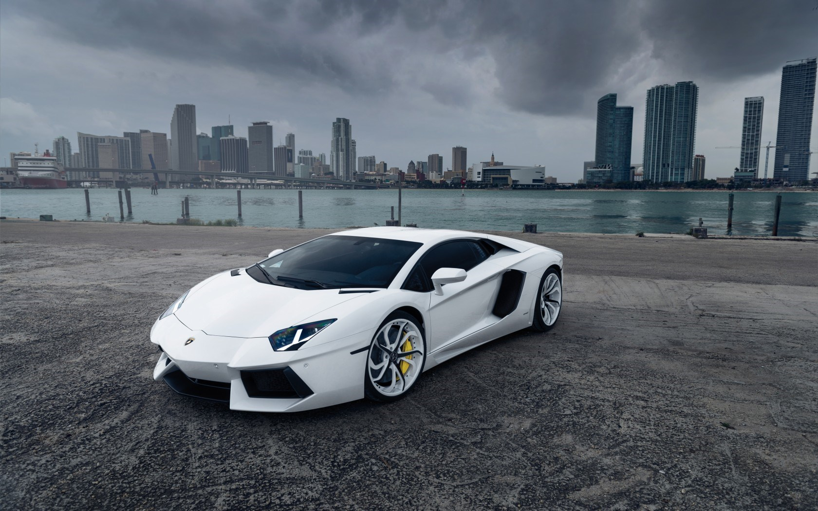 Lamborghini Aventador Car Front Tuning