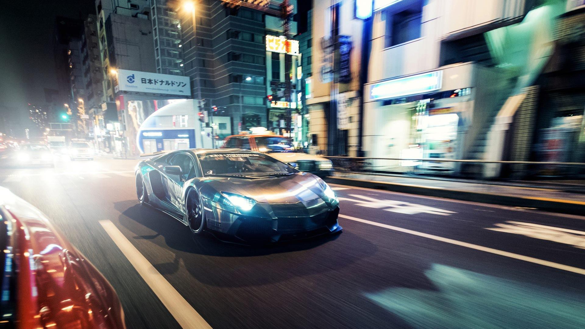 Lamborghini aventador city