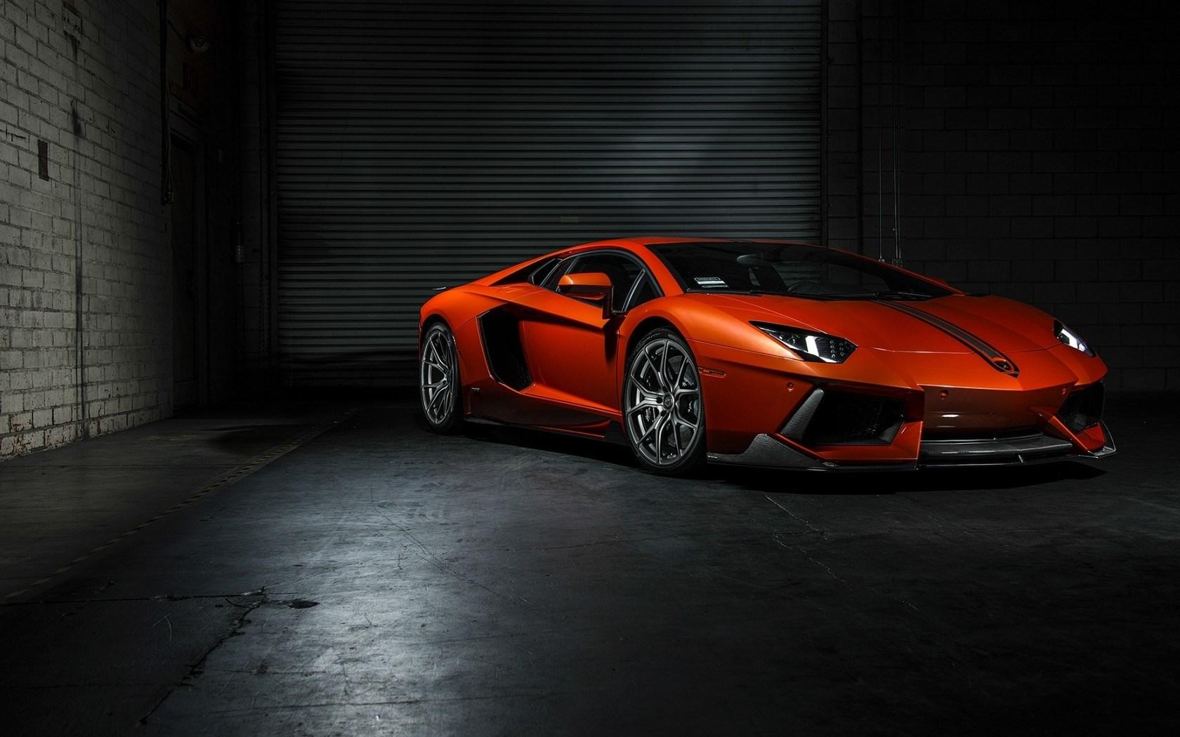 Lamborghini Aventador LP 700-4 Vorsteiner Tuning Car Orange Front Left