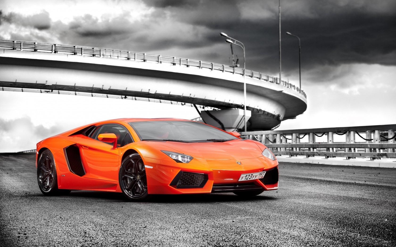 Lamborghini Aventador LP700-4 Orange Containers wallpaper ...
