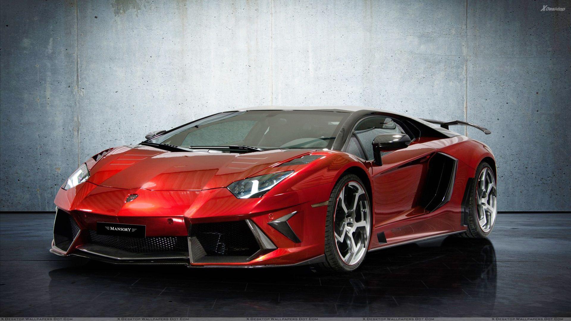 Lamborghini Aventador red #1