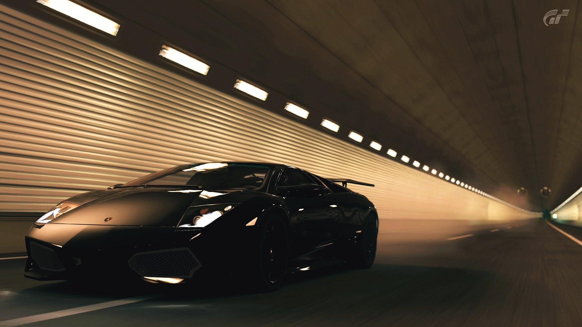 Lamborghini Car Tunnel Lights